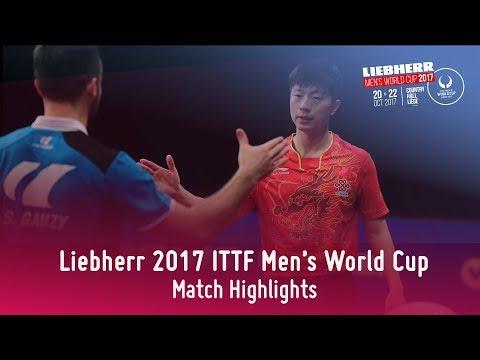 2017 Men's World Cup Highlights I Ma Long vs Simon Gauzy (3rd Place Match)