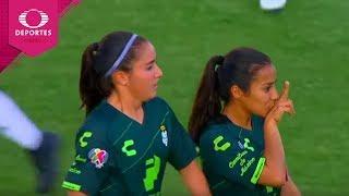 Gol de Cinthya Peraza | Juárez 0 - 3 Santos | Liga MX Femenil -  Ap19 J2 | Televisa Deportes