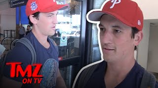 We Talk To Miles Teller About A New Proposed Military Branch For Space! | TMZ TV