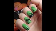 Nail Art | Halloween zombie water stickers