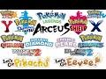 All Pokémon Game Trailers (1996-2021)