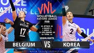 Belgium Vs Korea | Highlights | Women's VNL 2019