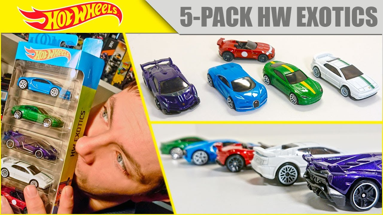 Видео обзор HOT WHEELS 5-pack Exotics 2021 4K - Bugatti, Aston Martin, Lamborghini, Lotus и Jaguar