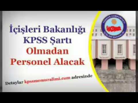 İçişleri Bakanlığı KPSS Şartı Olmadan Sözleşmeli Personel Alacak