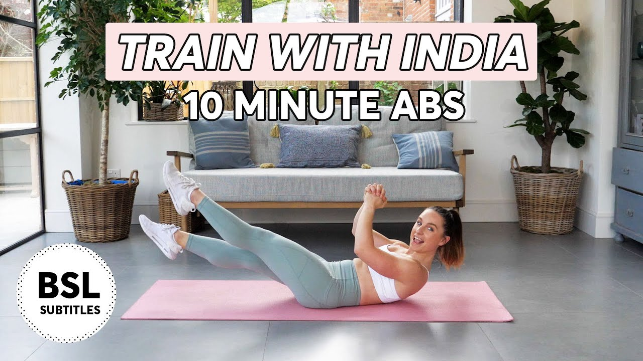 Train with India | 10 minute Abs Workout