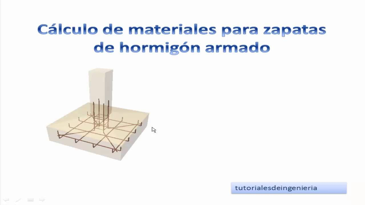 1 calculo de materiales de construcci n para zapatas de for Como hacer una pileta de hormigon armado