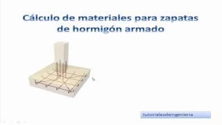 1. Calculo de materiales de construcción para zapatas de hormigon armado - TCICH1