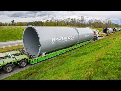 .超級高鐵公司首批全尺寸管道運抵法國,將展開真空懸浮試驗