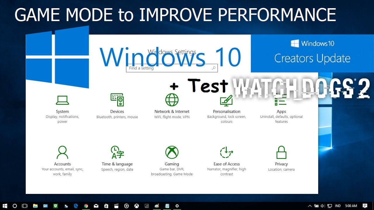 How To Enable Game Mode In Windows 10 Creator Update