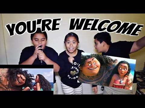 """""""You're Welcome"""" - Disney's Moana Soundtrack Song REENACTMENT / PARODY"""