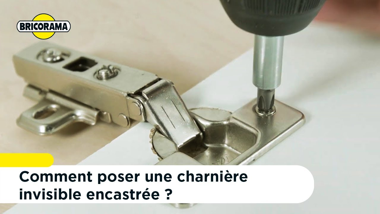 tuto poser une charniere invisible encastree bricorama