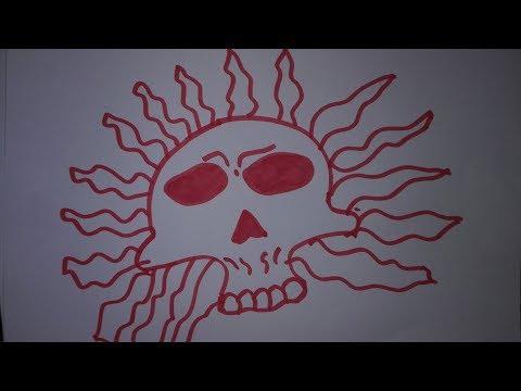 Easy To Draw Sun Skulls Draw A Skull Step By Step Draw A Sugar Skull