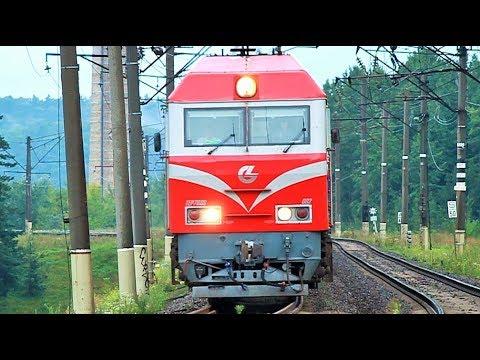 Поезд Калининград - Москва ТЭП70БС-002 смена на ЧС4Т-544