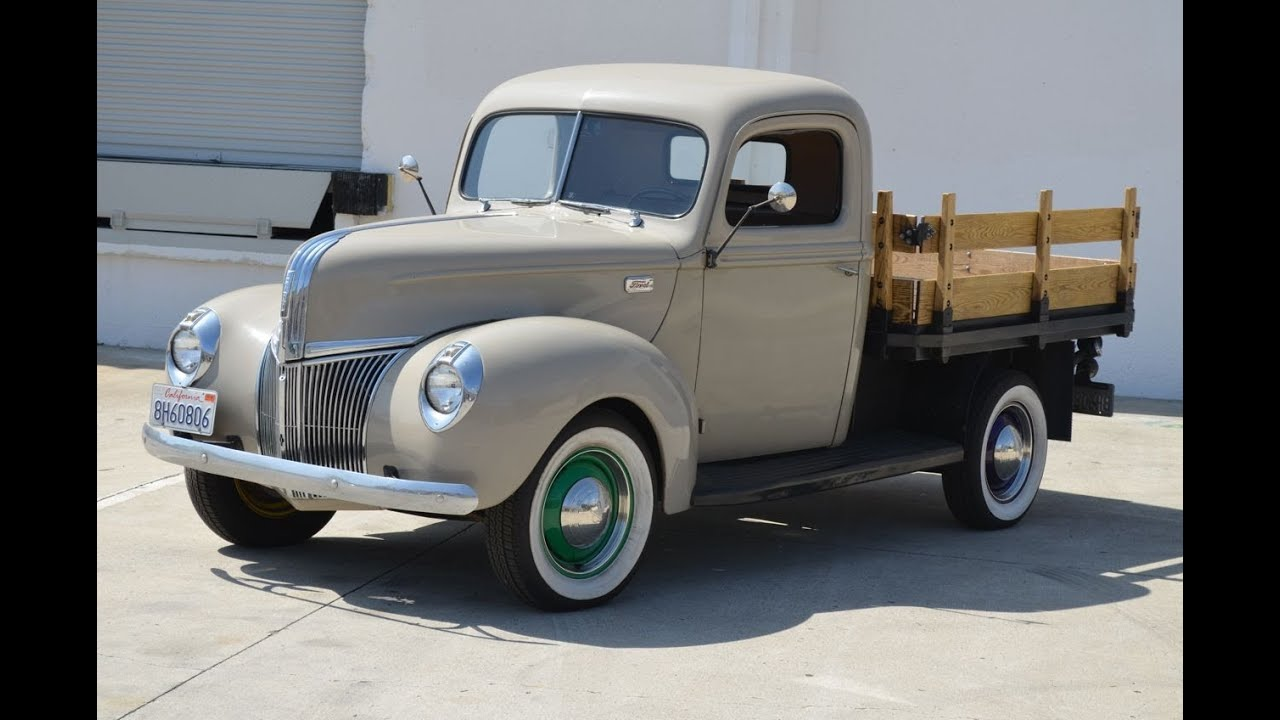 Sold 1941 Ford Flatbed Ca Youtube Pickup Truck