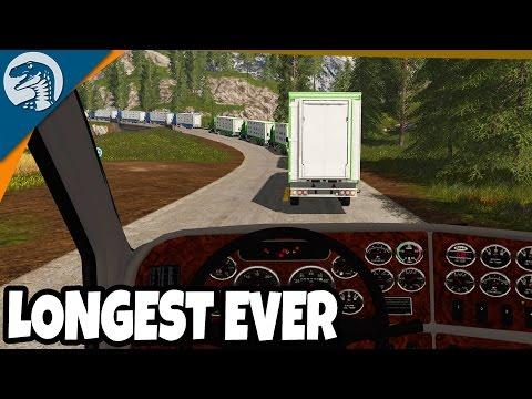 BIGGEST EVER TRUCKING CONVOY   Farming Simulator 17 Multiplayer Gameplay