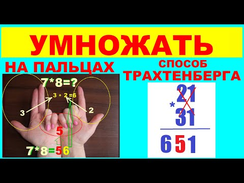 Как Умножать  на  пальцах   Умножать  числа   Способы  умножения   Способ Трахтенберга   Лайфхаки