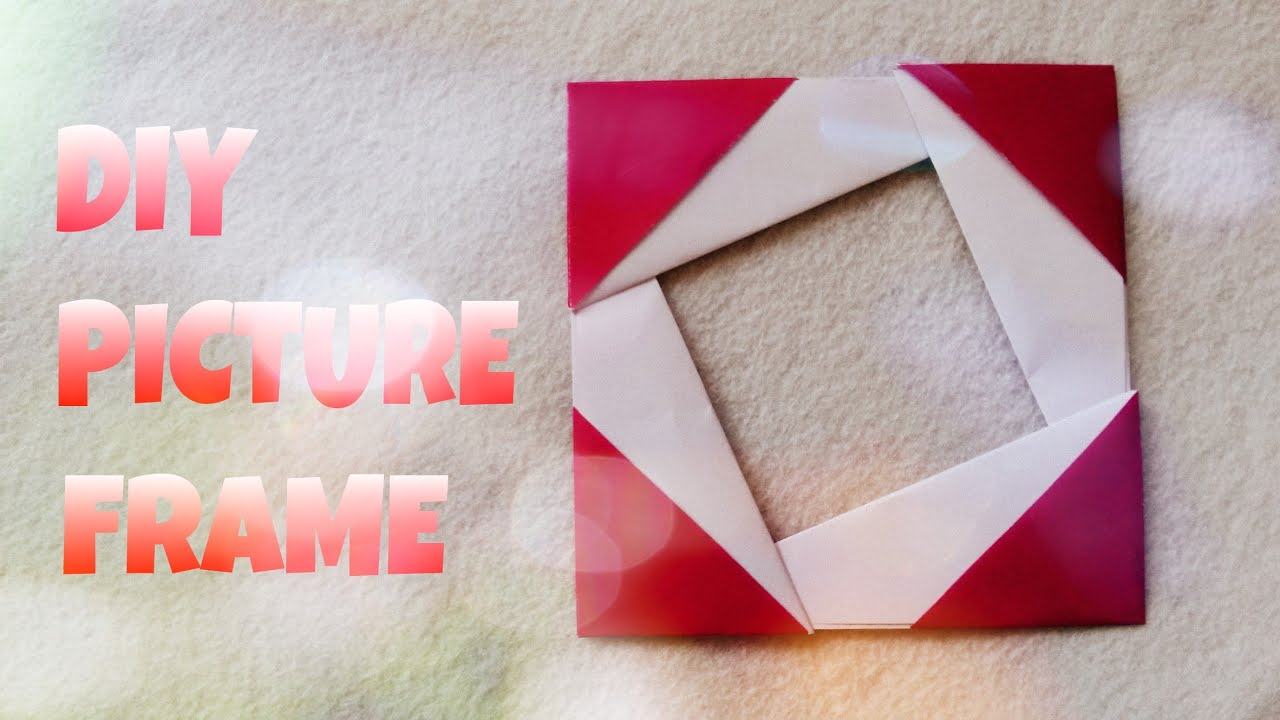 Origami Photo Frame Tutorial Origami Easy Youtube