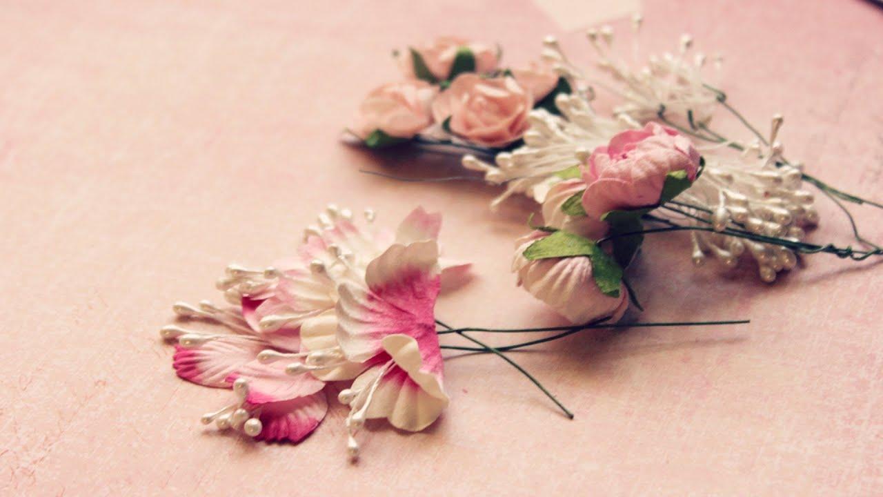 Как сделать цветочек для скрапбукинга 61