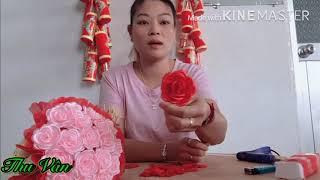Cách làm hoa Hồng bằng Ruy Băng | cực đơn giản