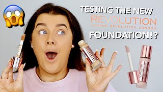 TESTING REVOLUTION'S NEW FOUNDATION (+ SKINCARE!) ...THEY REALLY DID THAT! | Rachel Leary