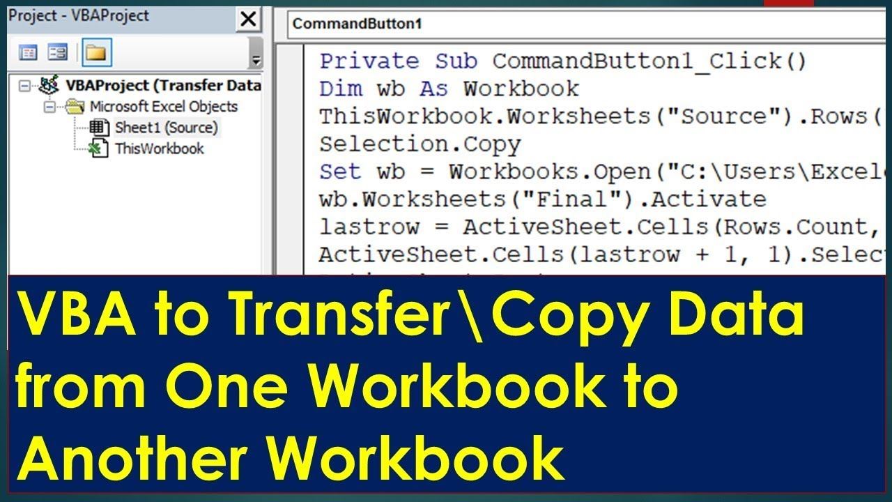 VBA Macro to Copy Data to Another Workbook