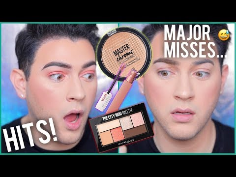 NEW MAYBELLINE MAKEUP TESTED! HITS AND MISSES | Manny MUA