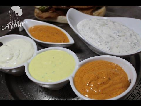En lezzetli Değişik 4 Çeşit döner sosu tarifi- verschiedene Döner Soßen