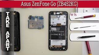 How to disassemble 📱 Asus ZenFone Go (ZB452KG) Take apart Tutorial