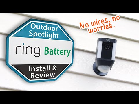 Ring Spotlight BATTERY Camera - Installation and Review