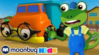5 Little Dumper Trucks! | Gecko's Garage: Nursery Rhymes & Baby Songs | Kids Cartoons | Moonbug Kids