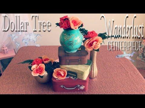 Dollar Tree DIY Centerpiece Wanderlust Travel Theme