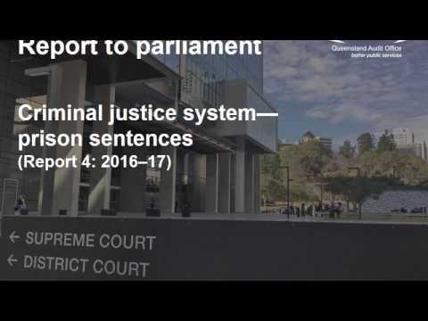 Criminal justice system—prison sentences (Report 4: 2016–17)