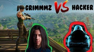 GRIMMMZ VS HACKER (FORTNITE)