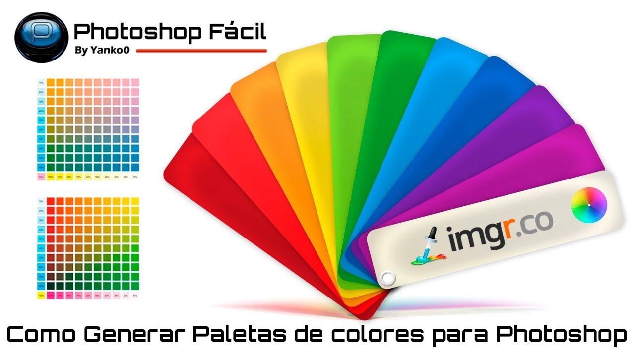Como generar paleta de colores para Photoshop  YouTube
