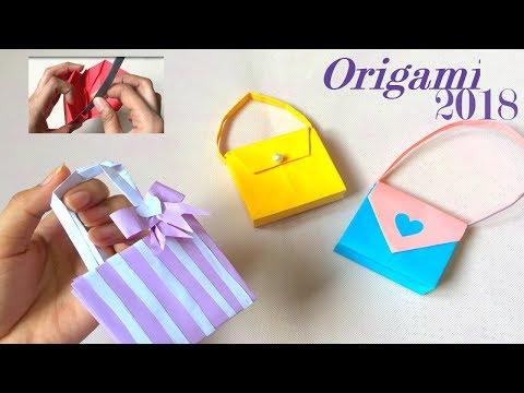 HOW TO MAKE PAPER BAG ! DIY Crafts: Paper Girl's Bag