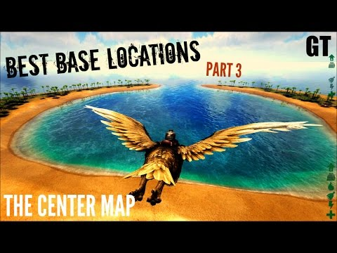 5 Of The BEST Base LOCATIONS  The Center Map Part 3   ARK: Survival