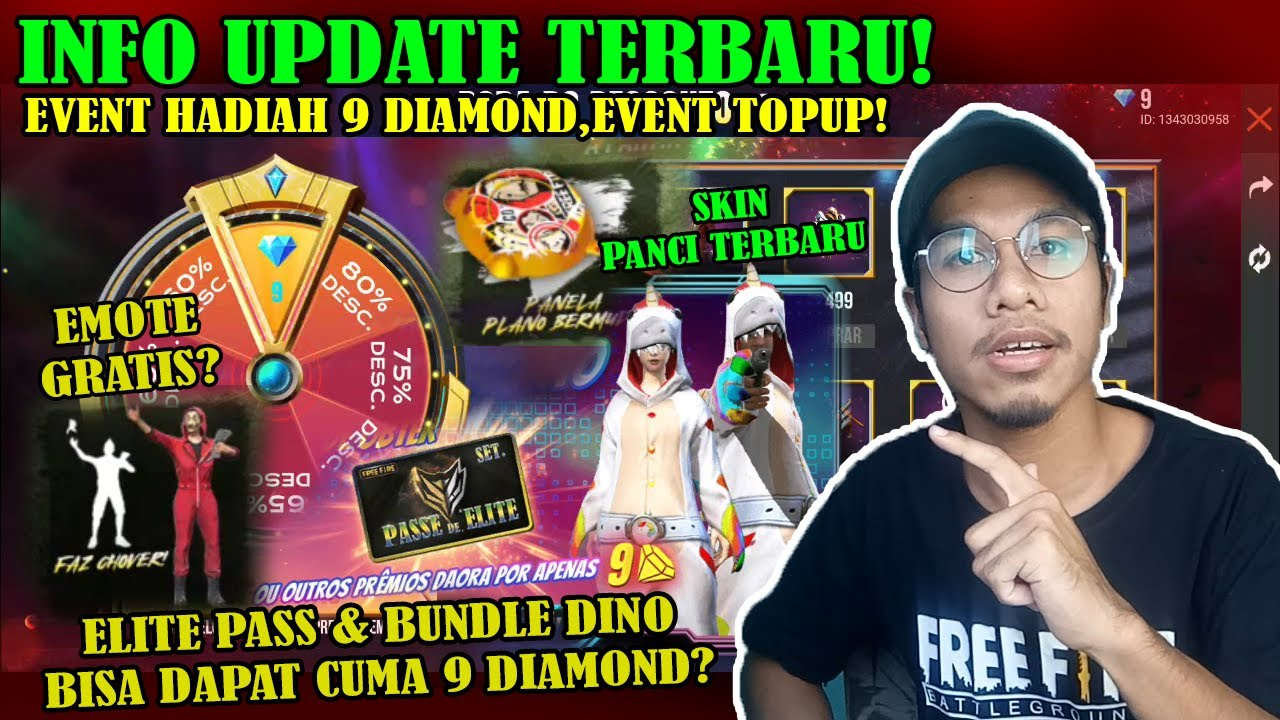 FREE FIRE - BOCORAN EVENT TERBARU! EVENT SEMUA HADIAH 9 DIAMOND,EVENT TOPUP,INFO UPDATE LAINNNYA