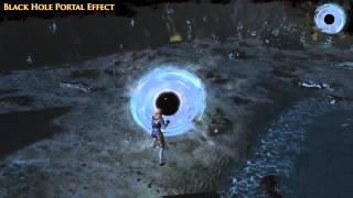 Path of Exile - Black Hole Portal Effect
