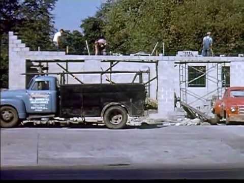 Construction Of New Texaco Station (1953)