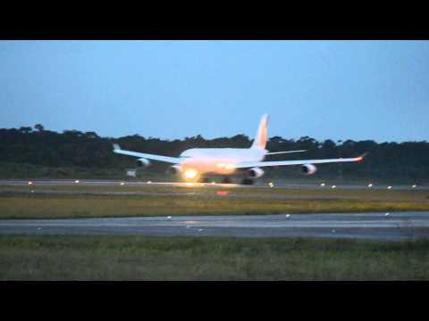 Air France 853 take off from Cayenne (SOCA)