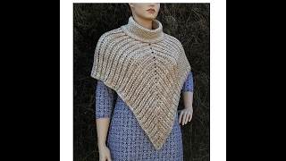"Learn How To Crochet ""The Desert Sands"" Poncho TUTORIAL #368 Intermediate crochet DYI"