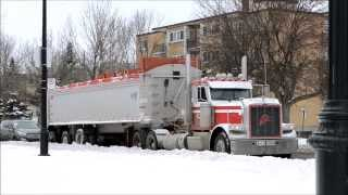 LOADS OF DUMP TRUCKS USED IN SNOW REMOVAL OPERATIONS