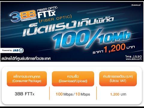 SPEEDTEST 3BB FTTx 100 Mbps (10/4/2016)