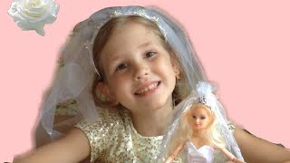 Что?😨. Я невеста?👰🏽. Жениха забрали😂. Распаковка куклы невесты