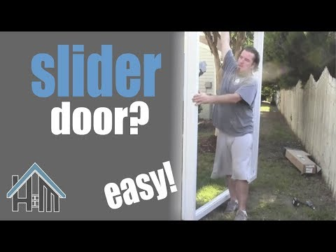 How to install a slider, sliding glass door. Easy. Home Mender