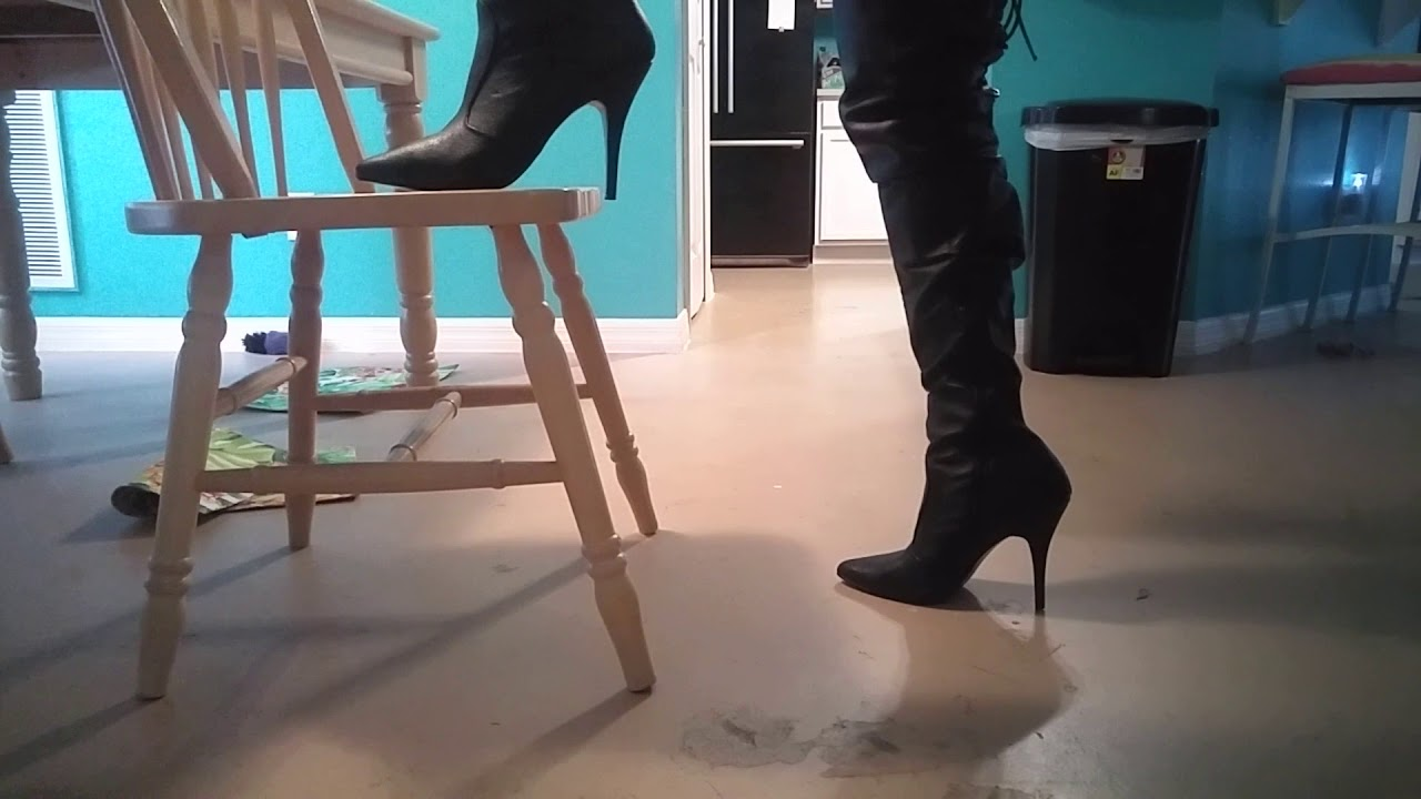 05e3dc5a2f18 Shining up my Pleaser Legend leather thigh high boots - YouTube