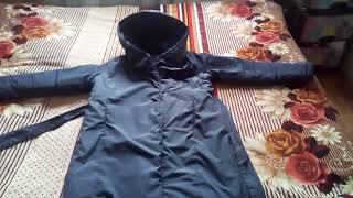 Утепленное пальто с поясом, цвет серо-фиолетовый. Фаберлик.