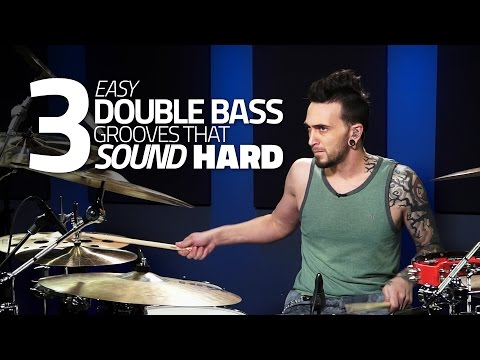 3 Easy Double Bass Grooves That Sound Hard - Drum Lesson