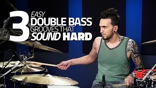 Easy Double Bass Grooves That Sound Hard - Drum Lesson(The Ultimate Toolbox To Jumpstart Your Drumming: http://www.Drumeo.com/ultimate-toolbox/ Click here for the sheet music! http://www., 2016-02-11T17:51:01.000Z)