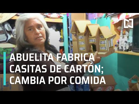 Abuelita intercambia casitas de cartón por despensa; usuarios en redes piden ayudarla- En Punto